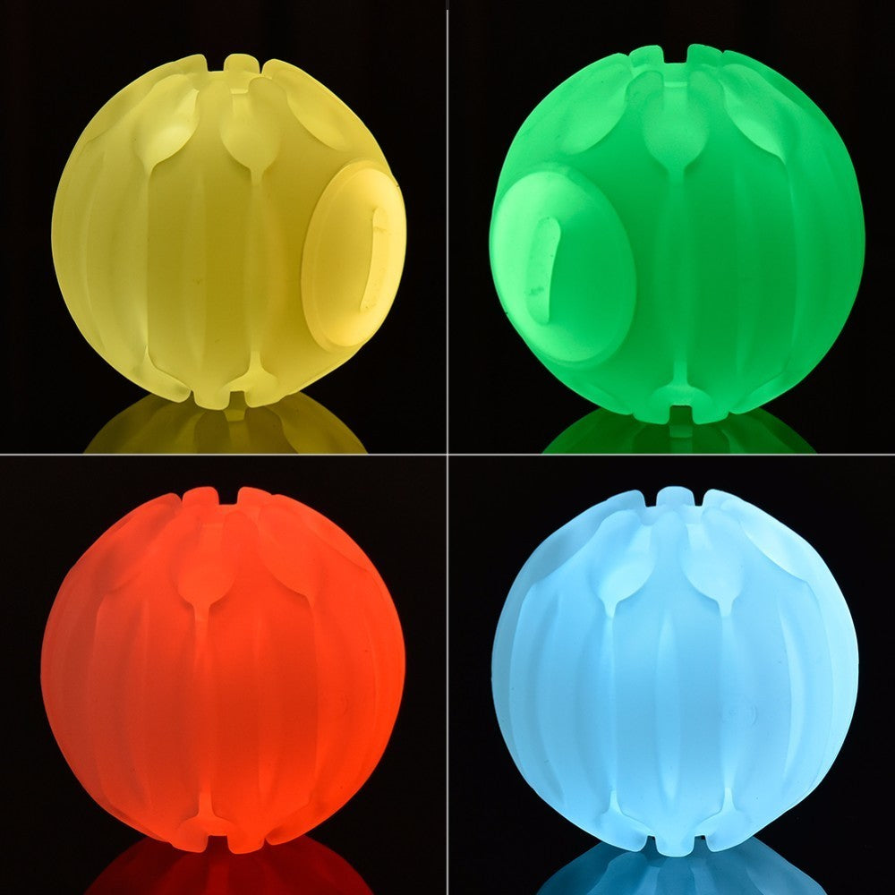 2018 Halloween Christmas Pet Toys LED Bounce Light Ball Glow Balls 6cm Meteor Light Dog Ball Silicon Chew Durable Pet Train Ball