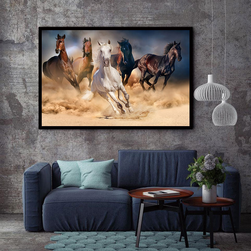 BANMU HD Printed Canvas Art Animal Horses Decorative Wall Art Picture Home Decor Modular Paintings For Living Room
