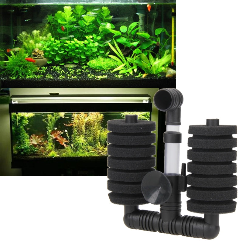 1 Set Aquarium Fish Filter Accessories Fish Tank Air Pump Skimmer Practical Aquarium Biochemical Sponge Filter For Decoration