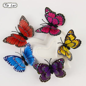 TIE LER Hot 12 PCS 3D Wall Stickers Butterfly Fridge Magnet Wedding Decoration Home Decor
