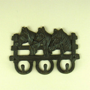 Vintage Cast Iron Horse Stable Key Hook Artistic Craftworks Embellishment Accessories Knick knack for House Decor and Present