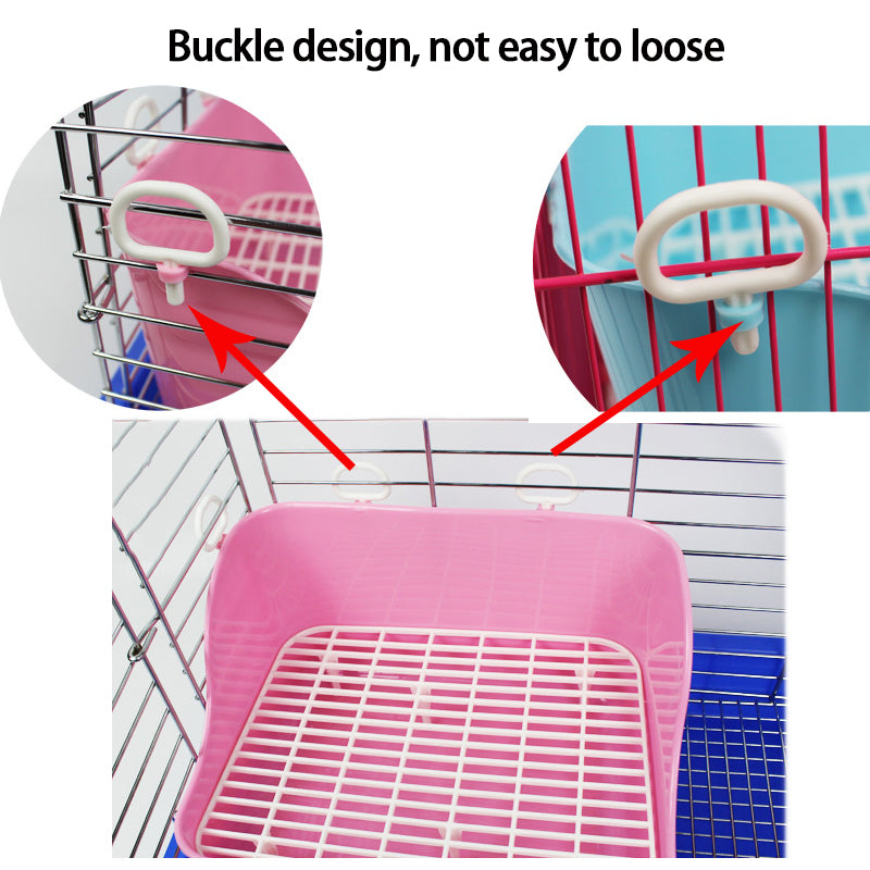 2018 New Free pet rabbit toilet Plastic multicolor rabbit to clean Rabbit toilet Buckle design, Rabbit accessories