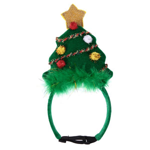 Christmas Pet Headdress Headband Festive Decorative Xmas Tree Pet Hair Accessories Dog Pet Hat Decoration