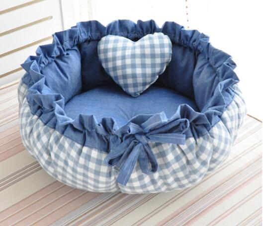 Princess Style Sweety Pet Dog Bed Cat Bed House Cushion Kennel Pens Sofa With Pillow Warm Sleeping Bag New Arrival 1PC