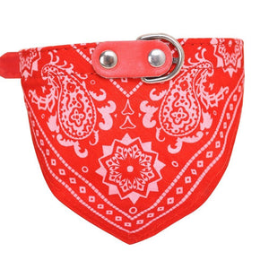 Pet Dog Adjustable Bandanas Collars Triangular Bandage Saliva Towels