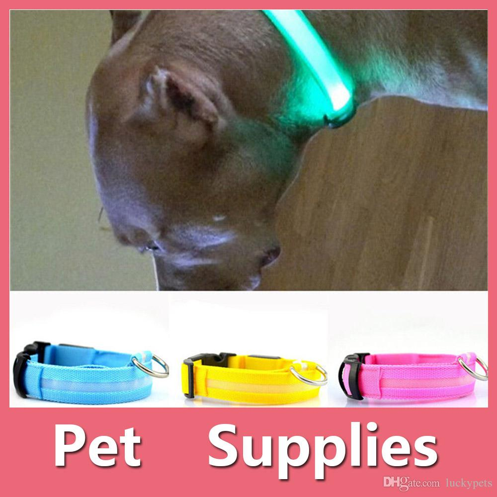 Colorful Led Pet Dog Puppy Cat Kitten Soft Glossy Reflective Collar Safety Buckle Pet Supplies Products