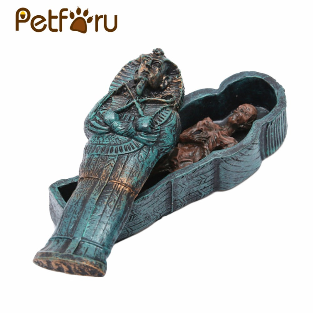 Reptile Resin Mummy Decoration Lizard Gecko Hiding Cave Pet Habitat Aquarium Landscaping Ornament