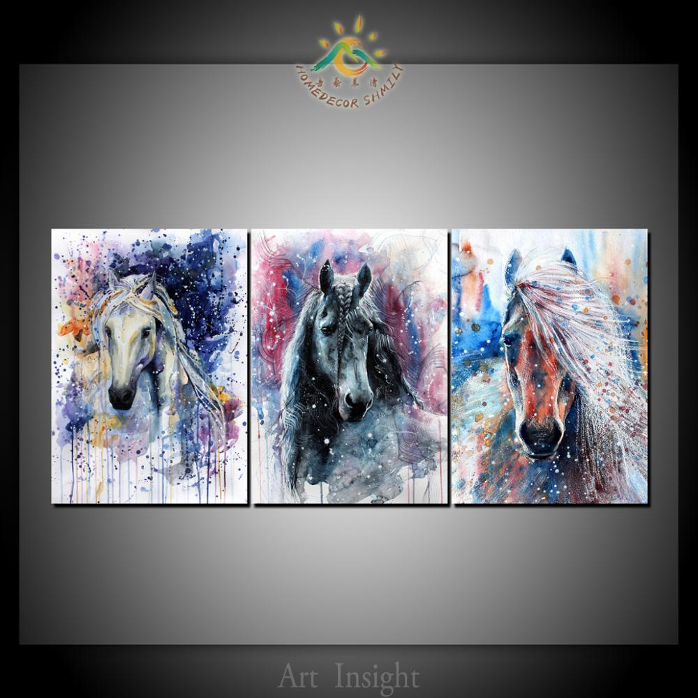 3 piece Abstract Art Horses Canvas Art Wall Pictures Canvas Prints Painting  Artwork Wall Pictures Home Decoration