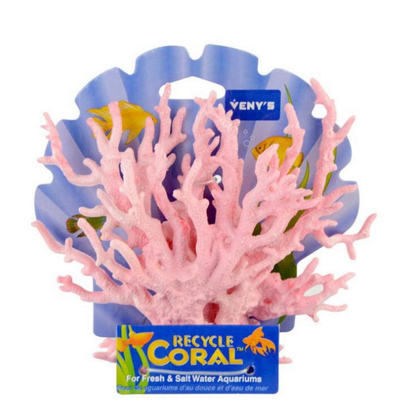 Hoomall Aquarium Decoration Blue  Vivid Plastic Coral Pet Aquarium Accessories For The Fish Tank Decor Landscape Ornaments