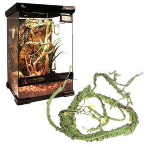 Artificial Rattan Reptile Box Case Decoration Lizard Jungle Amphibians Reptiles Green Plants Habitat Decor