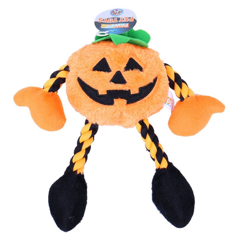 Halloween Hot Selling New Pumpkin ModelingDog Chew Toys, Cute Pet Dog Squeaking Chew Toy Training Squeaky Toys With High Quality