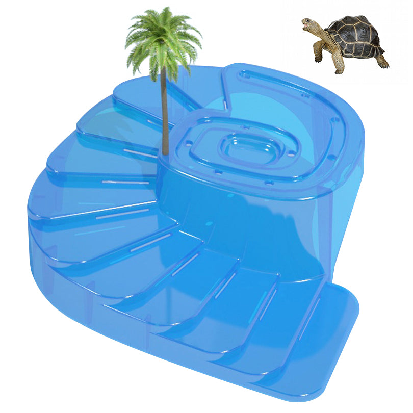 Petacc Turtle Basking Platform Floating Turtle Pier Reptile Habitat with Ramp