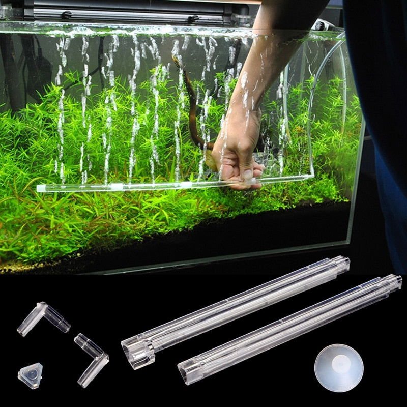 Plastic Aquarium Fish Tank Curtain Air Vent Bubble Bar Release Diffuser Set New Aquarium Fish Tank Accessories akvaryum dekor