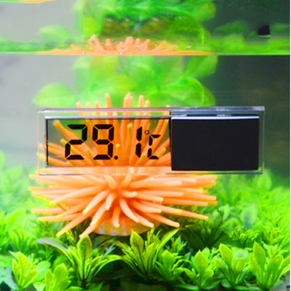 LCD 3D Digital Electronic Temperature Measurement Fish Tank Temp Meter Aquarium Thermometer Temperature Control Accessories