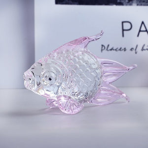 1 Pcs Crystal Goldfish Miniature Figurine Handmade Animal Crystal Craft Glass Home Decor Gift Fish Tank Ornament