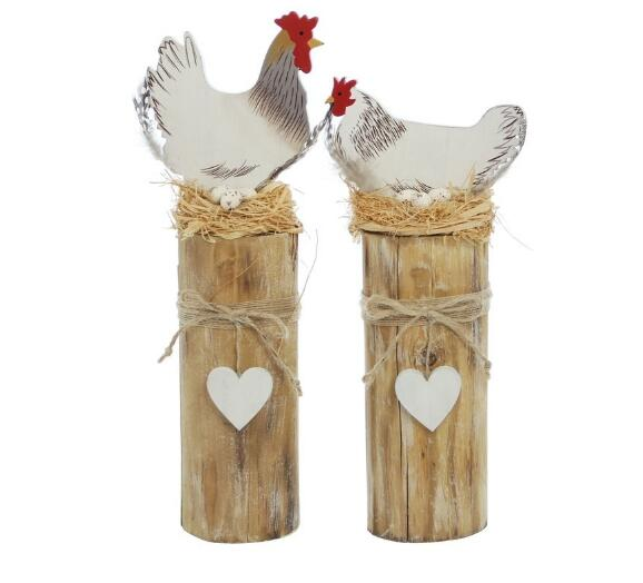 Free shipping,2pcs/lot,High31cm+high27cm,European country cute wooden old wind chicken decoration ,spring decoration