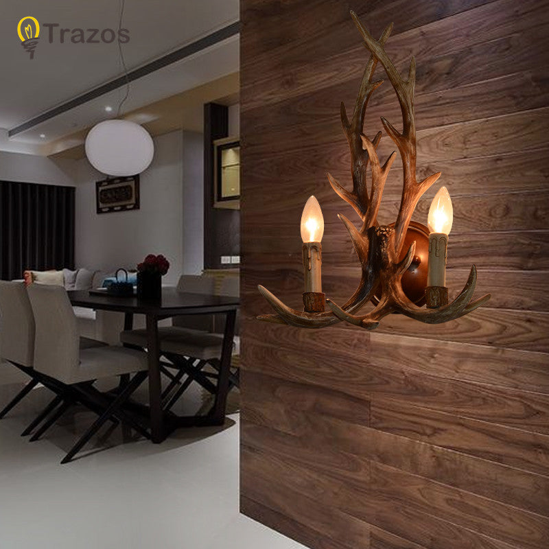 Retro country style deer shape Wall Lamp hot sale in 2015 Corridor light for home decoration Lampara de pared
