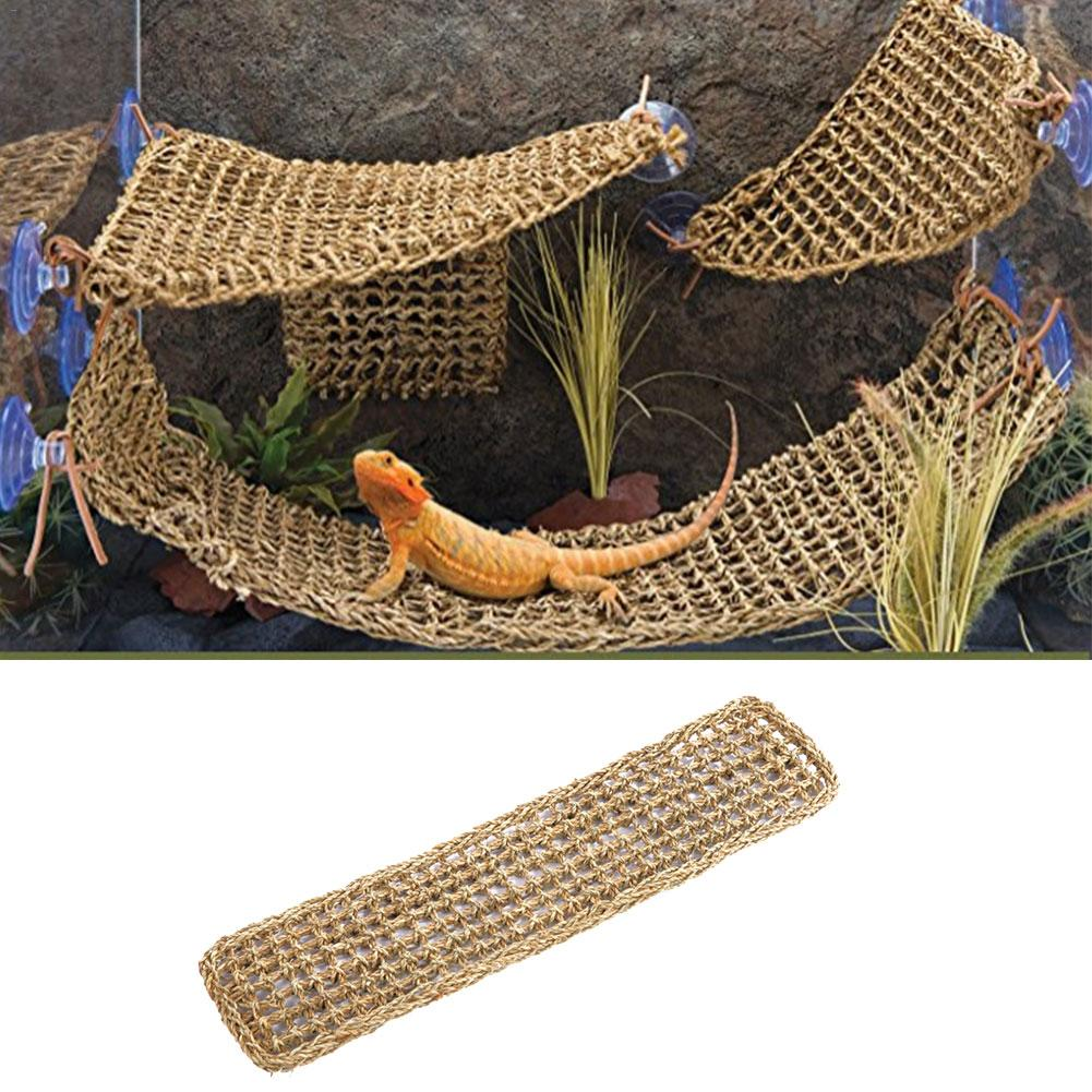Seaweed Lizard Hammock Swing Pet Lounger Reptile Toy Hanging Bed Mat Small Hermit Crabs Geckos Bed Mats Pet Reptile Accessories