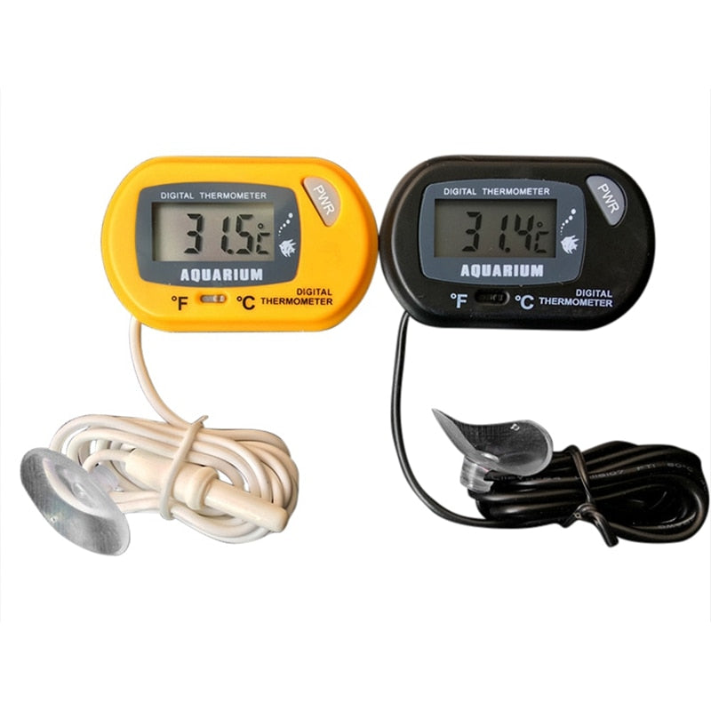 Aquarium Thermometer LCD Screen Sensor Aquarium Temperature control Fish Tank reptile Suction Cup Type Diving Pet Box