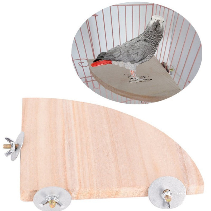 Pet Bird Parrot Wood Platform Stand Rack Toy Hamster Branch Perches For Bird Cage Toys 3 Sizes Pet Supplies