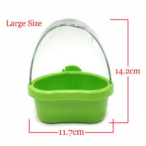 CAITEC Bird Spill Proof Feed Box Durable Bite Resistant Suitable for Small to Medium Parrots Less Waste Feeding Solution 2 Sizes