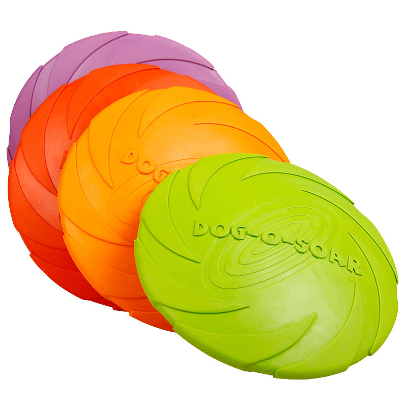 3 Sizes Dog Flying Discs Colorful Natural Rubber Soft Tough Dog Toy For Pet Dog Training Playing With Milk Fragrance