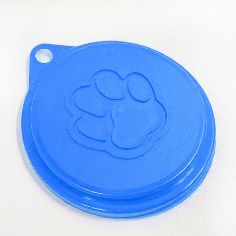 Pet Dog Cat Food Storage Can Tin Cover Lid Top Cap Random Color Reusable
