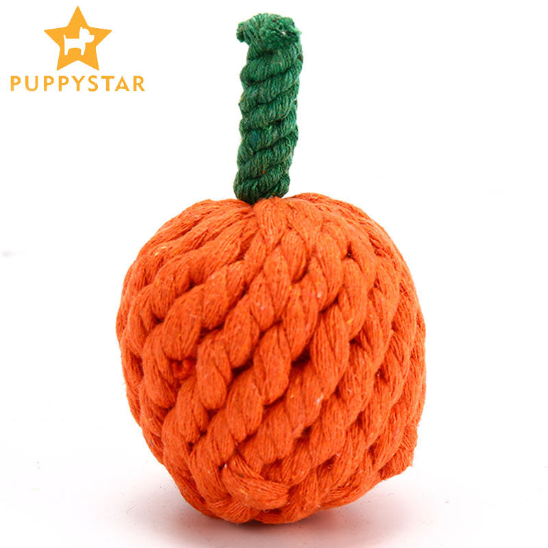 High Quality Pet Dog Toy Chew Wear-Resistant Dog Halloween Pumpkin Toy For Small Medium Large Dog Cat Cleaning Tooth Toy XF0011