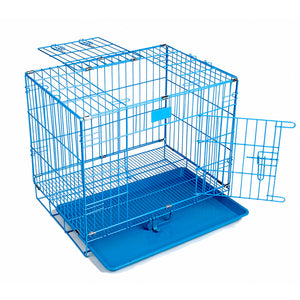 Cheap Foldable Pet Cat Cage Kennel Folding Metal Dog Crate with Double-Door  Best Quality Easy Install 3 Colors