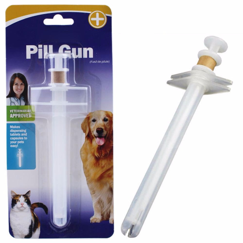 New Pet Dog Cat Capsule Tablet Pill Gun Popper Piller Pusher Syringe Doser soft tip