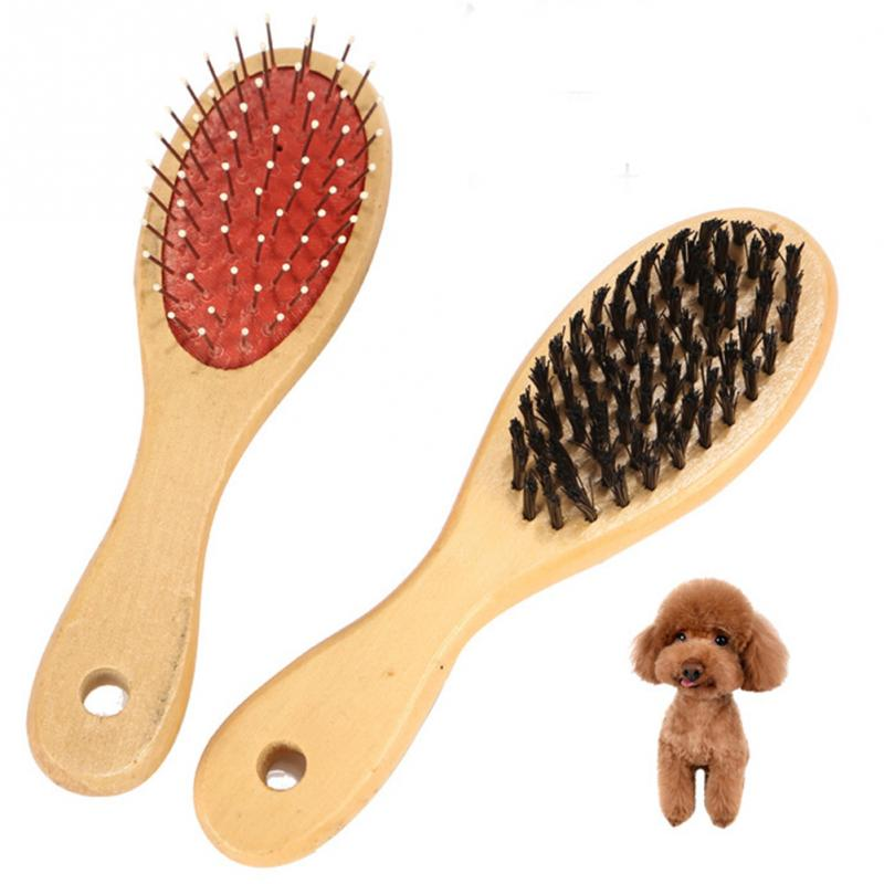 Double-sided Pet Comb Big Dog Brush Comb for Cats Dogs Hair Wooden Hair Removal Soft Brush Pet Comb Grooming Products Care Tool