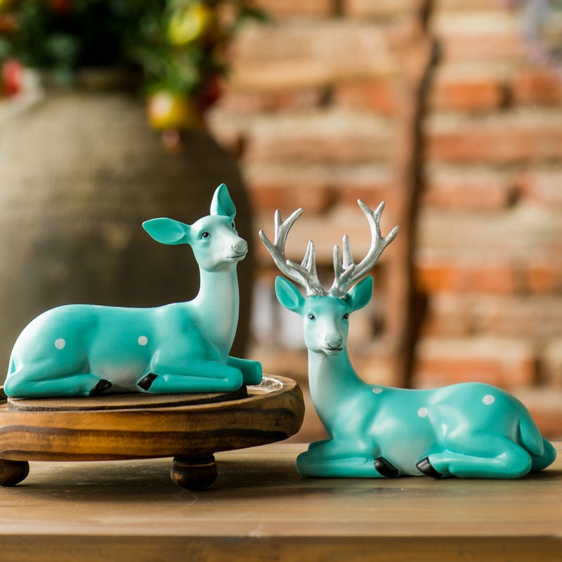 American Country Creative Elk Ornaments Accessories Resin Craft Wedding New Year Gift Home Living Room TV Cabinet Study Decorate