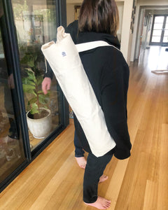 Baguette bag or Yoga mat bag.
