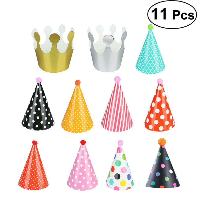 Load Image Into Gallery Viewer 11 Pc Birthday Party Hats For Dogs And Cats