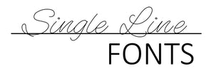 single line fonts logo