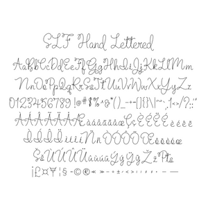 "Single Line Font ""Hand Lettered"""
