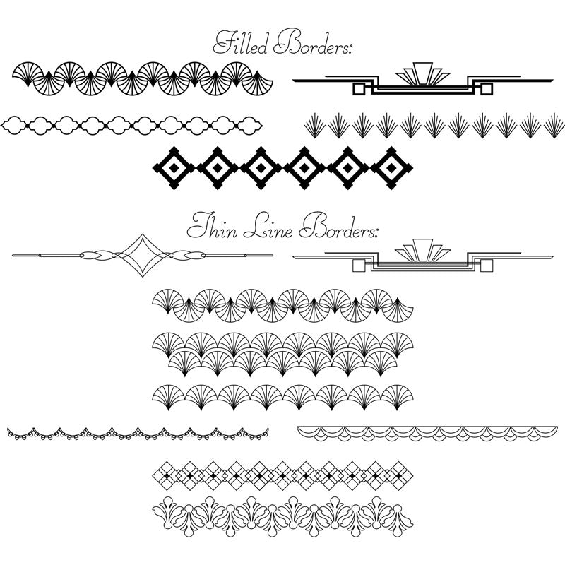 svg dividers borders download foil quill silhouette cricut