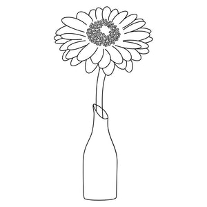 daisy in vase svg file to use with foil quill and pen tools