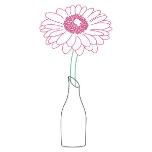 gerbera daisy svg design for silhouette machines pen tools foil quill
