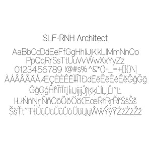 SLF-RHN Architect Single Line Engraving Font for Rhino Software