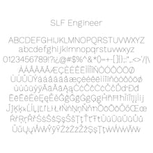 Load image into Gallery viewer, slf engineer single line san serif font for engraving