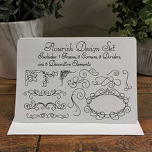 Load image into Gallery viewer, flourish design pack svg download for foil quilling