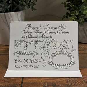flourish design pack svg download for foil quilling