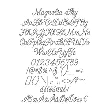 Load image into Gallery viewer, single line font slf magnolia sky engraving fonts for cnc