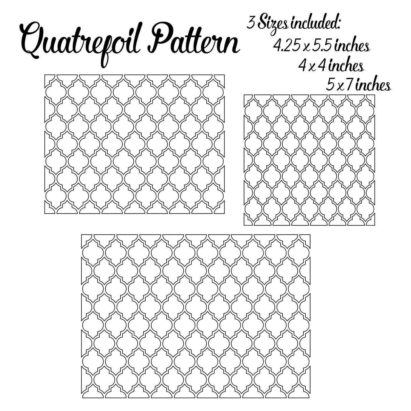 quatrefoil pattern svg download for foil quilling