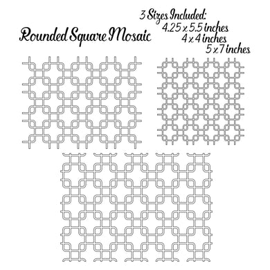 Rounded Square Mosaic Pattern