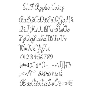 "Single Line Font ""Apple Crisp"""