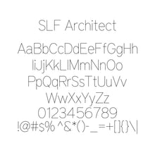 Load image into Gallery viewer, SLF-RHN Architect Single Line Engraving Font for Rhino Software