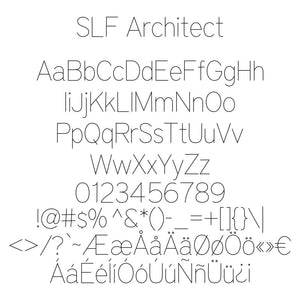 "Single Line Font ""Architect"" OPF Version"