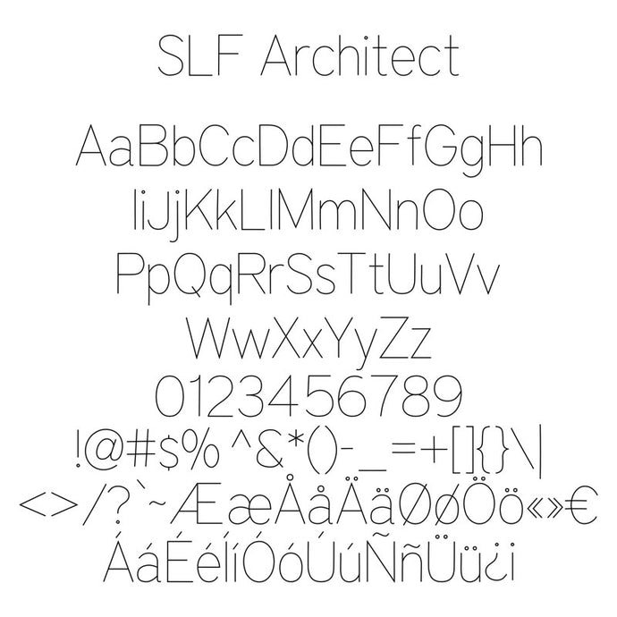 All Single Line Fonts